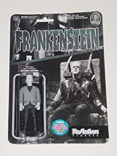 Universal Monsters Funko Reaction Frankenstein 3.75 inch Action Figure 2015 NYCC Black & White Exclusive 1 of 2000 [New York Comic Con]