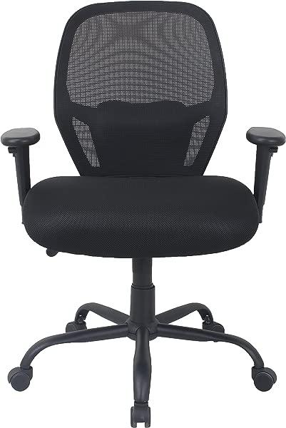 AmazonBasics 大高转体办公椅网眼带腰部支撑 450 磅容量黑色