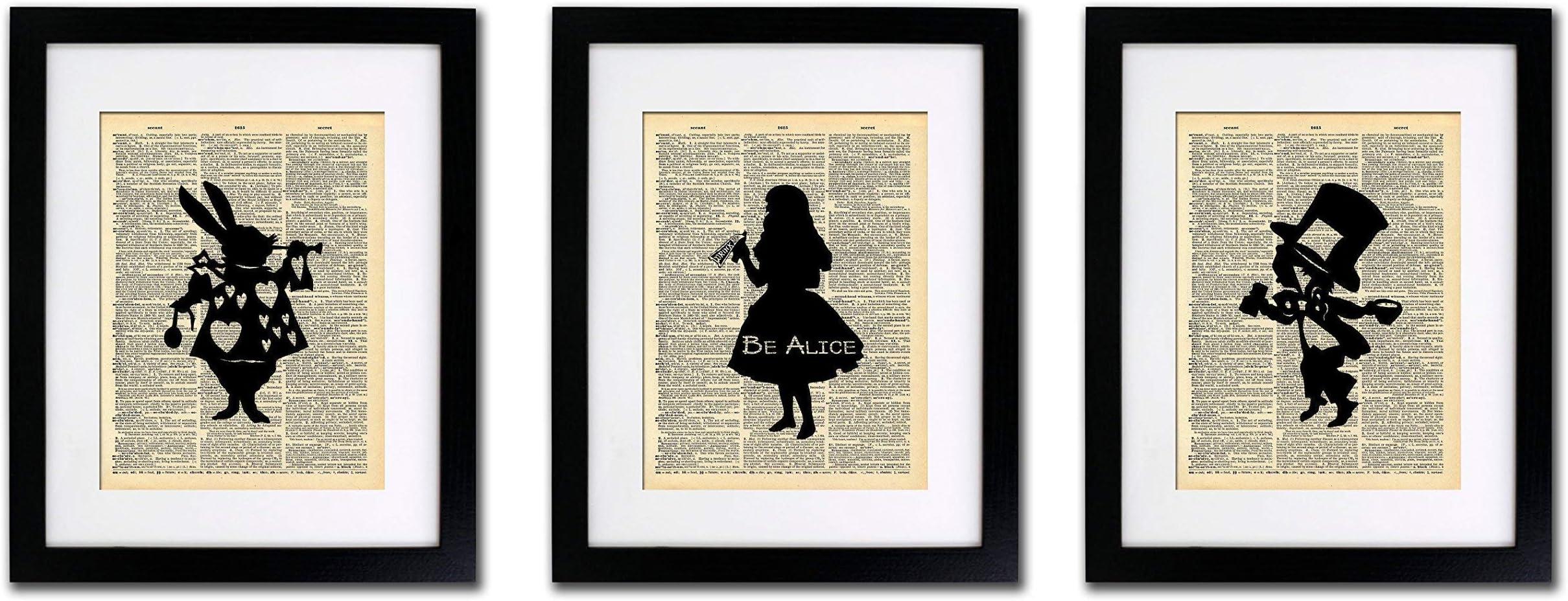 Alice Wall Decor Alice Gift Set Alice in Wonderland Print ALICE Print Set of 4 Alice Best Friend Gift 079 Alice Quotes Wall Art Prints