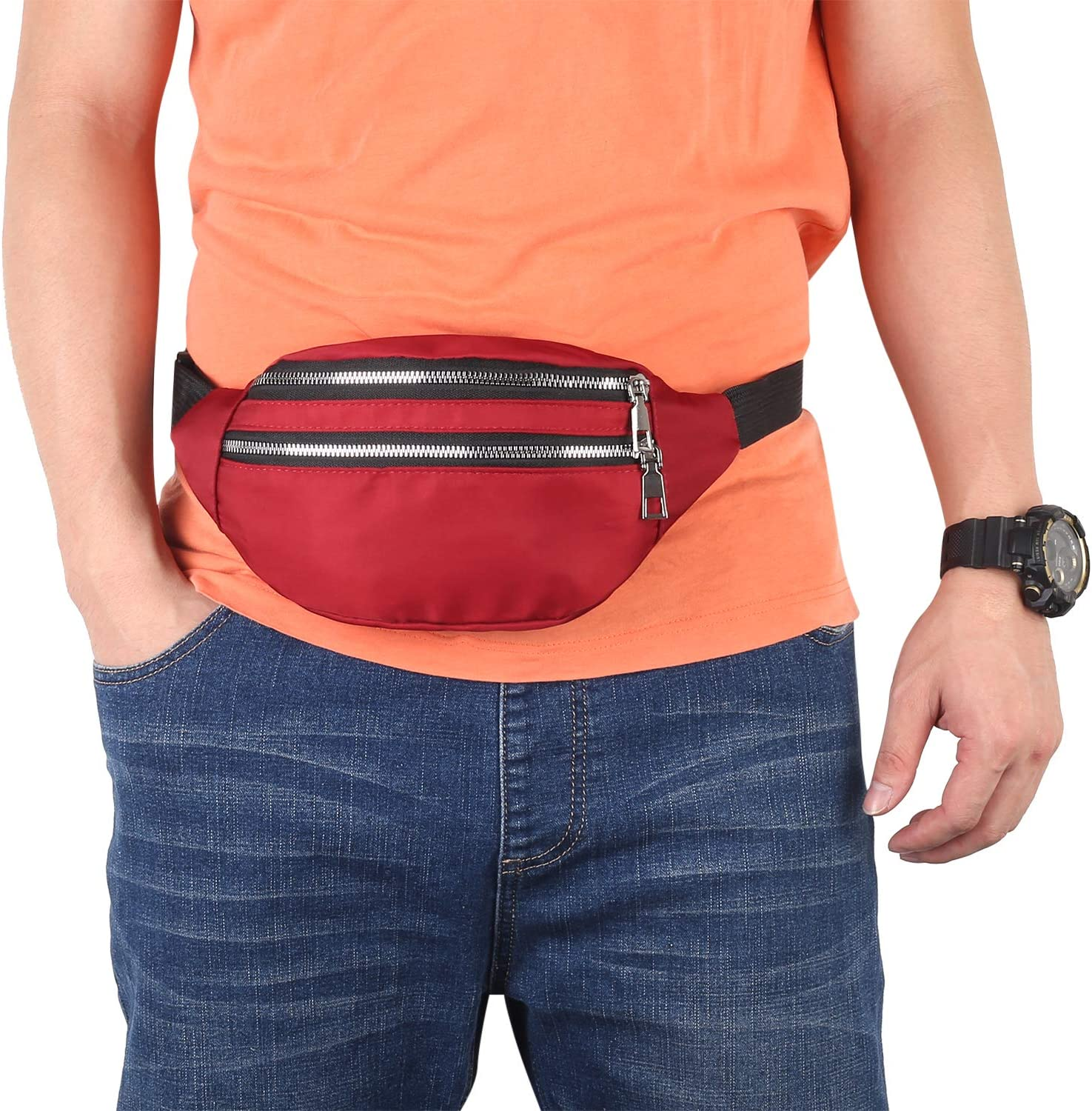 YUNHE Fanny Pack for Men /& Women Lightweight Waist Pack Pouch Bag with Adjustable Strap for Traveling Outdoors Sports Marathon Gym Casual Hiking Cycling Cashiers Box