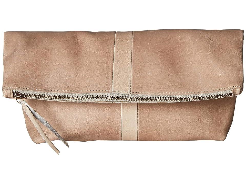 ABLE Foldover Emnet (Fog/Bone Suede) Handbags