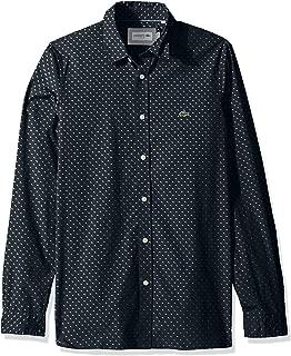 Lacoste Men's L/S All Over Print Casual Non Button Down Collar Slim Fit