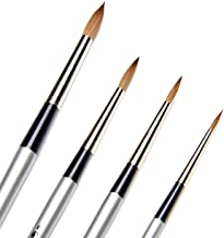 AIT Art Select Paint Brush Set - 4 Pure Russian Red Sable Round Paint Brushes - Handmade in Germany Set for Superior Resul...