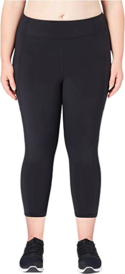 Onstride Plus Size Medium Waist Run 7/8 Crop Leggings
