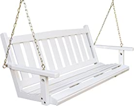 Porchgate Amish Made Mission White Porch Swing (5 Foot)