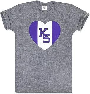 Charlie Hustle Unisex Collegiate Kansas State Heart T-Shirt