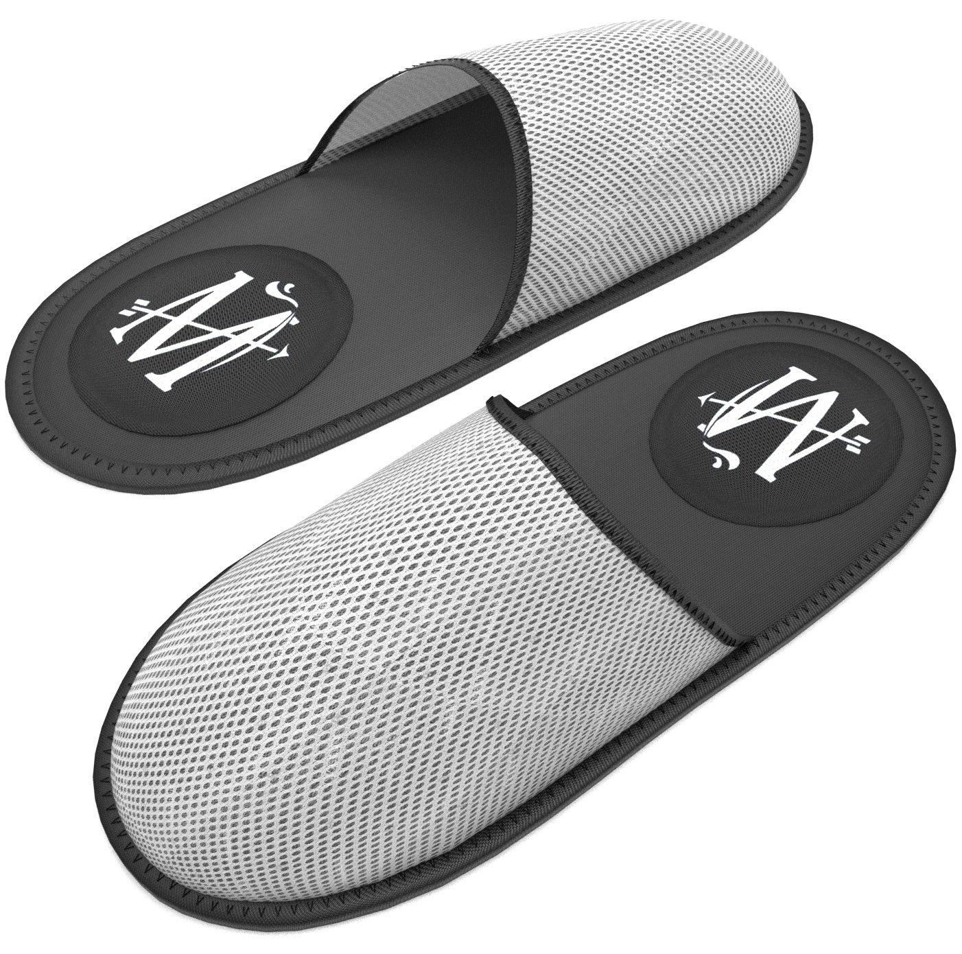 MT 高级 Spa/Hotel 拖鞋 - 男式女式奢华旅行*店防滑氯丁橡胶凉鞋 - 男女皆宜 - 均码 - 可重复使用 轻便便携 可折叠