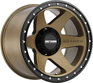 Method Race Wheels MR610 Con 6 BRONZE Wheel with Method Black Street LOC (0 x 10. inches /8 x 180 mm, -24 mm Offset)