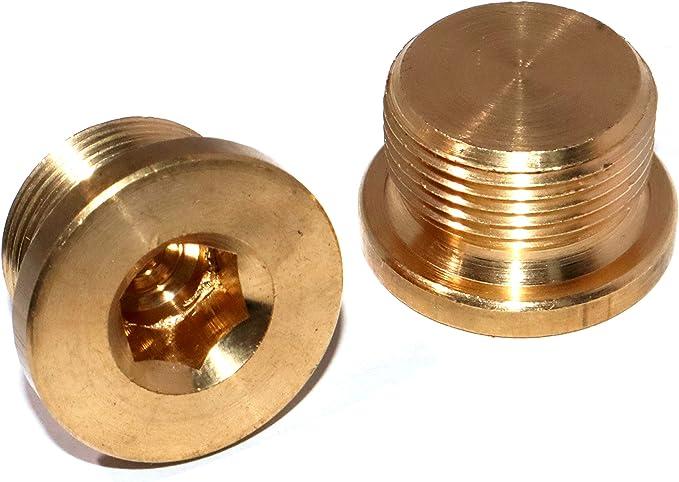 4x Stopfen Blindstopfen Messing M8 x 1 Verschlussschraube Pneumatik Druckluft