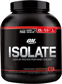 Optimum Nutrition ON Whey Protein Isolate, Chocolate Shake Flavor, 5.02 Pound