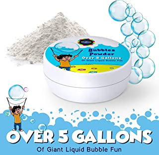 BigBua Fun Large Bubbles Powder: Additional Jar of Bubble Mixing Powder for The Giant Bubbles Wand Kit Makes Over 5 Gallons of Bubbly Liquid