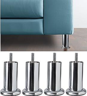 IPEA Lot de 4 Pieds pour Meubles et canapés modèle Aquamarina avec Base - Lot de 4 Pieds en Fer - Pieds au Design Minimali...