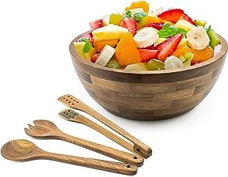 Acacia Wooden Salad Bowl Serving Set