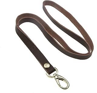 leather lanyard id holder