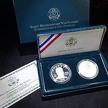 1998 S Commemorative Coin Program 2 Coin Set Black Revolutionary War Patriots Proof & Unc