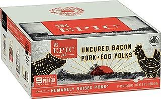 Epic Uncured Bacon Pork & Egg Yolks bar, 12Count