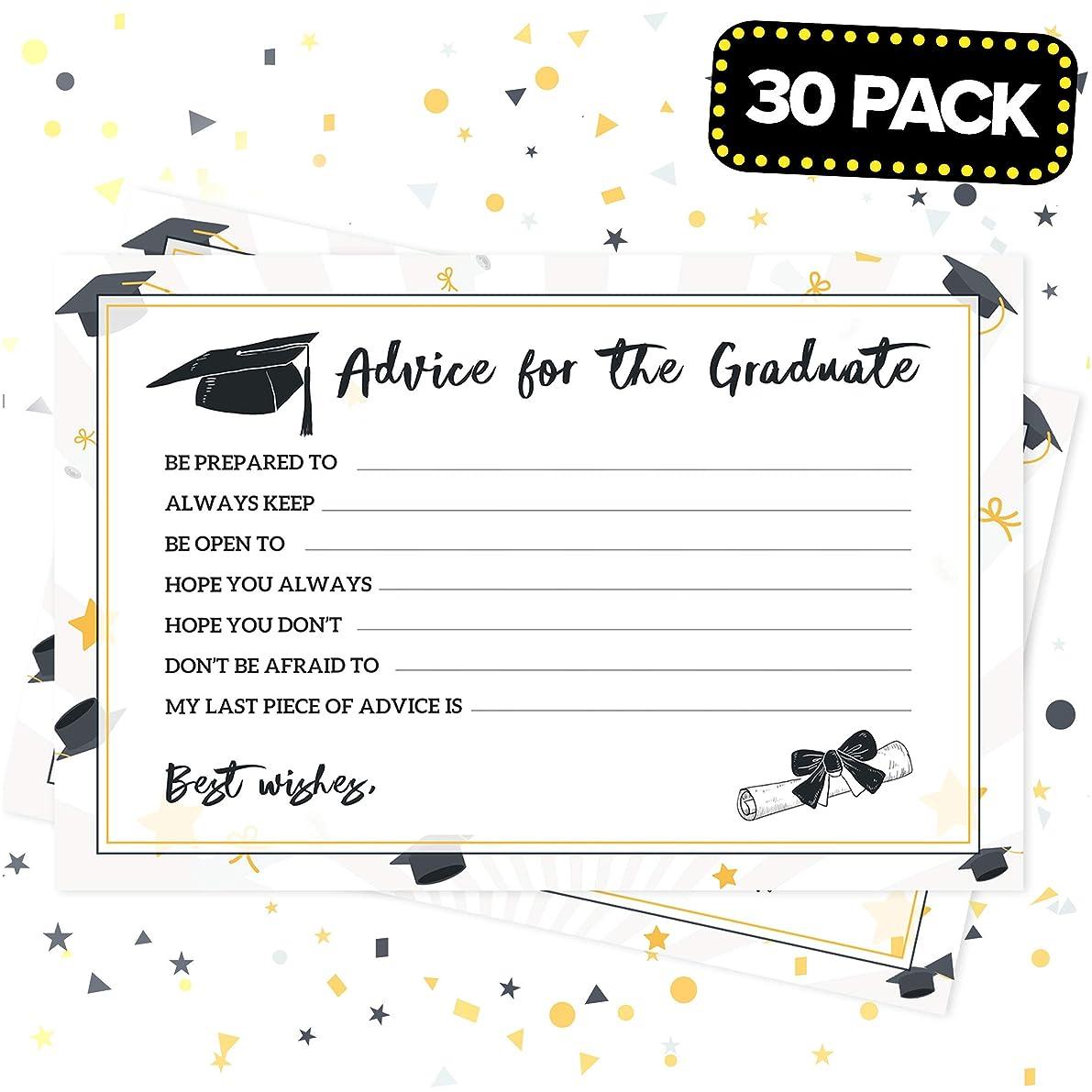 Joyousa Graduation Advice Cards Party Supplies 2019 - 30 Pack - Favors, Graduate Decorations