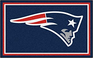 FANMATS NFL New England Patriots Nylon Face 4X6 Plush Rug