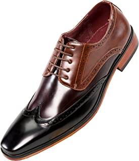 Amali The Original Classic Smooth Multi Colored Wing Tip Oxford Dress Shoe Style Bolt