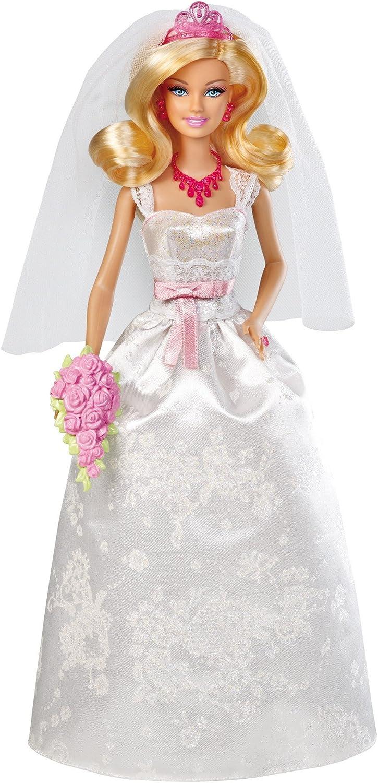 Mattel Barbie X9444  Braut, Puppe mit Diadem, Halskette und Bouquet