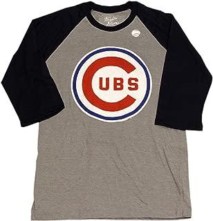 AMERICAN NEEDLE Chicago Cubs T-Shirt 3/4 Sleeve Bullseye Logo