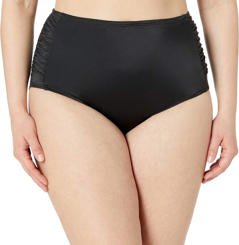 Amazon Brand - Coastal Blue Women's Plus Size Control Swimwear Bikini Bottom