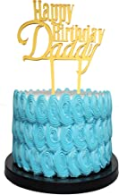 Happy Birthday Dad Cake Topper for Father's Birthday, Best Dad Ever Cake Party Decorations Gold Glitter