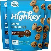 HighKey Snacks Keto Food, Low Carb Snack Cookies, Gluten Free & No Sugar Added - Chocolate Chip - Healthy Diabetic, Paleo,...