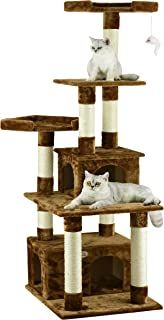 Go Pet Club F206 Cat Tree Condo Scratcher Post Pet Bed Furniture , 67 inch , Black