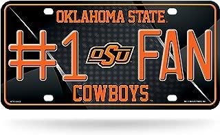 "NBA #1 Fan Metal License Plate Tag, NCAA Oklahoma State Cowboys #1 Fan Metal License Plate Tag, MTF230003, Black, 6"" x 12"""