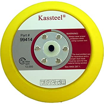 1 Pad, Kassteel 99417 5 Back Up Pad 10mm Thick 5//16-24 Threaded Hub For PSA Sanding Discs
