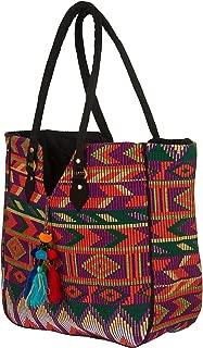 TribeAzure Large Women Shoulder Bag Tote Aztec Handbag Tassel School Everyday Beach Picnic Grocery Laptop