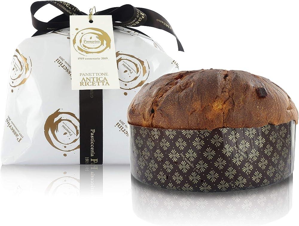 Panettone artigianale milanese, ricetta tradizionale, pasticceria passerini dal 1919, 1 kg PANPASSERINI