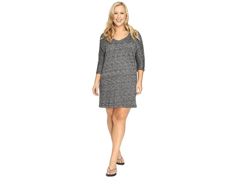 Soybu Plus Size Rosa Dress (Black Heather) Women