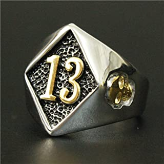 diamond 13 biker ring
