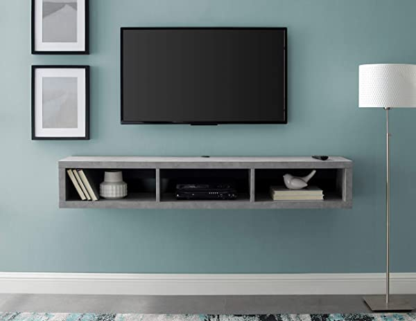 Martin Furniture IMSE360CT Floating Tv Console 60 Stone Gray