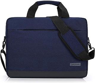 Memoryee 14&15.6 Inch Business Laptop Messenger & Shoulder Bag with Handle Slim Zip Canvas Lightweight Waterproof Briefcase Handbag for Men Women Blue 15.6Inch