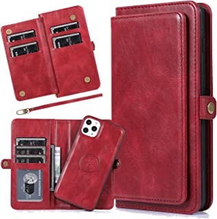 Harsel 7 Card Slots Magnetic Closure Detachable Flip PU Leather Wallet Women Purse Case with Strap Removable Protective Si...