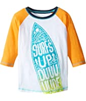 Hatley Kids - Surfs Up 3/4 Length Sleeve Raglan Tee (Toddler/Little Kids/Big Kids)