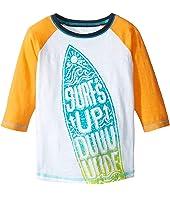 Hatley Kids - Surfs Up 3/4 Length Sleeve Raglan Tee (Toddler/Little Kids/Big Kids)