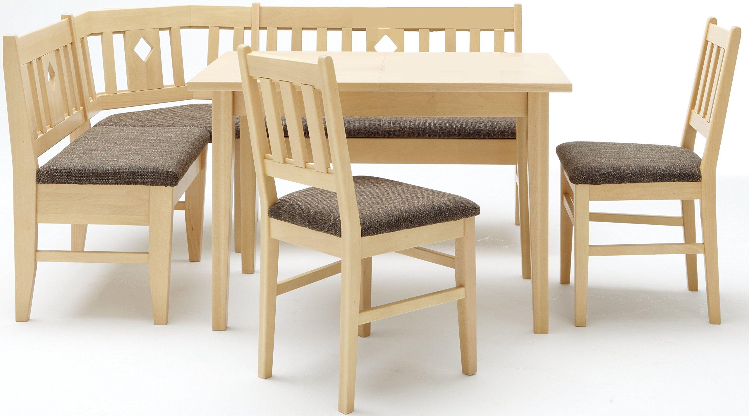 2410 3,2,3,4.: En esquina para cocina banco, 2 sillas, 1 mesa de ...
