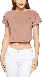 Lee Women's Crop Scoop Boyfriend Tee Shirt