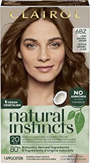 Clairol Natural Instincts Semi-Permanent Hair Color, 6BZ Light Caramel Brown, Autumn Bronze, 1 Count