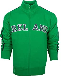 Ireland Applique Retro Varsity Jacket (Kelly Green, Small)