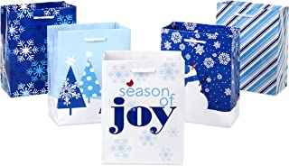 Hallmark Small Holiday Gift Bags, Winter (Pack of 5)