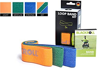 BLACKROLL LOOP BAND - Resistance band. Skin-friendly fabric fitness band - different resistances (soft, medium, strong) - individual or 3 in one kit