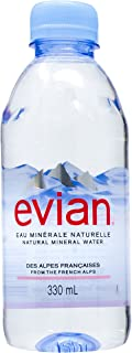 Evian Natural Mineral Water -330ml (Pack of 24)