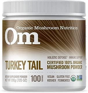 Om Organic Mushroom Nutrition Supplement, Turkey Tail: Holistic Defense, Immune Support, 100 Servings, 7.14 Ounce, 200 Gram