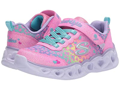 SKECHERS KIDS Sport Lighted Heart Lights 302145L (Little Kid/Big Kid) (Pink/Multi) Girl