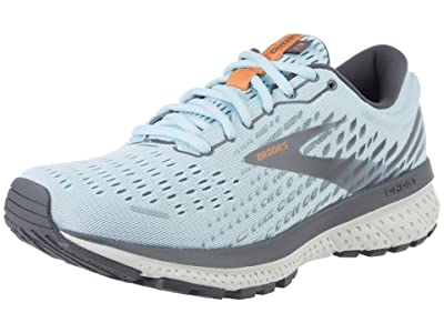 Brooks Ghost 13 SINGLE SHOE (Light Blue/Blackened Pearl/White) Women